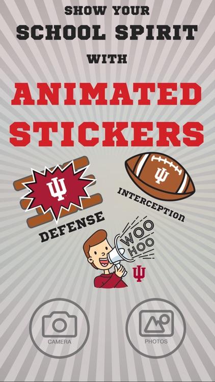 Indiana Hoosiers Animated Selfie Stickers
