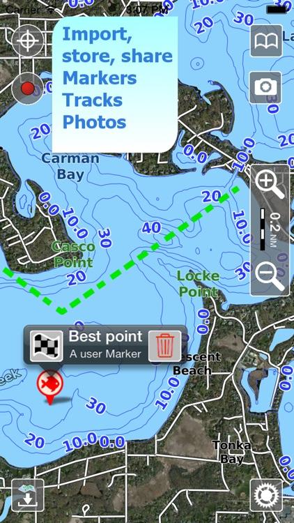 Aqua Map Texas Lakes GPS screenshot-3