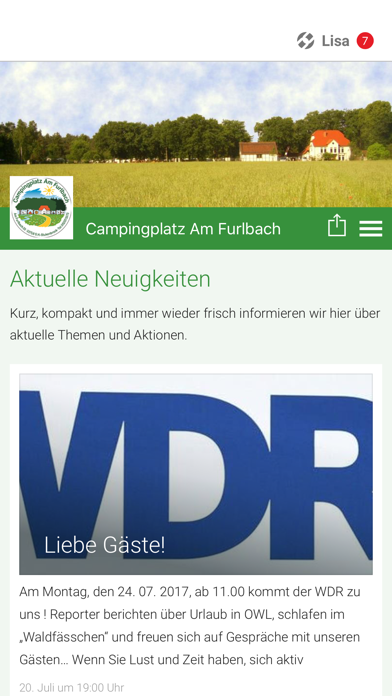 Campingplatz Am Furlbach screenshot 1