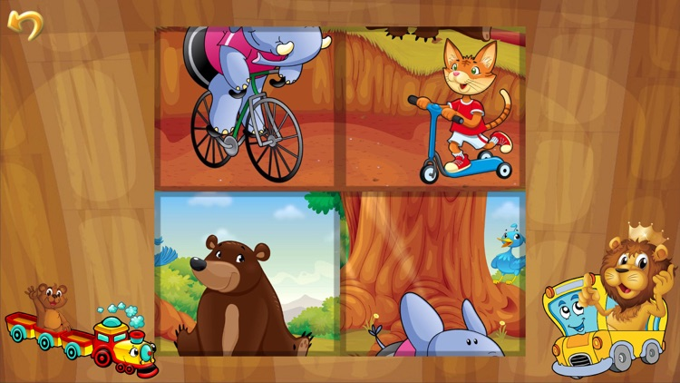 Animal Car Puzzle: Jigsaw Picture Games for Kids screenshot-3