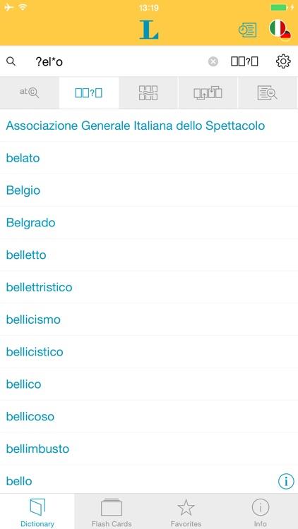 German Italian XL Dictionary screenshot-3
