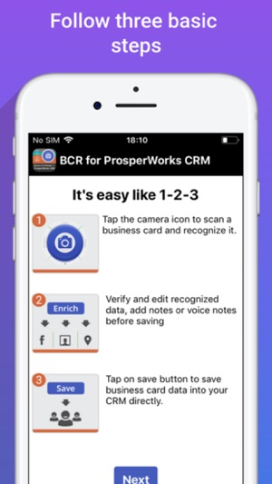 Biz card reader 4 prosperworks on the app store iphone ipad reheart Choice Image