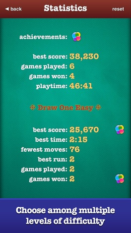 ▻ Solitaire screenshot for iPhone