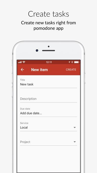 Screenshot of PomoDoneApp - your tasks timer App