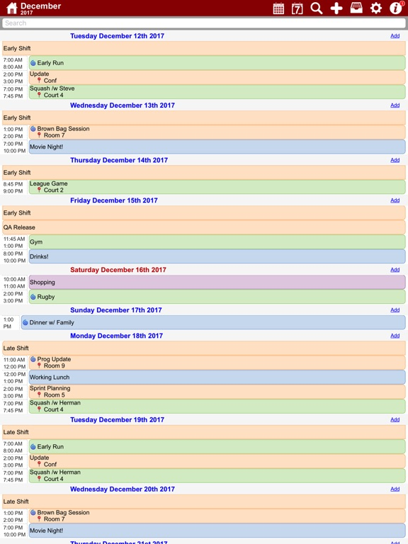 myCal PRO: Calendar & Events Screenshots