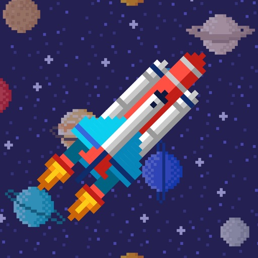 Coloring Book: Space in Pixels