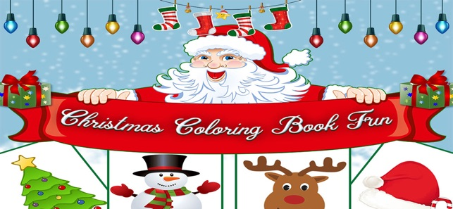 Christmas Coloring Book Fun On The App Store