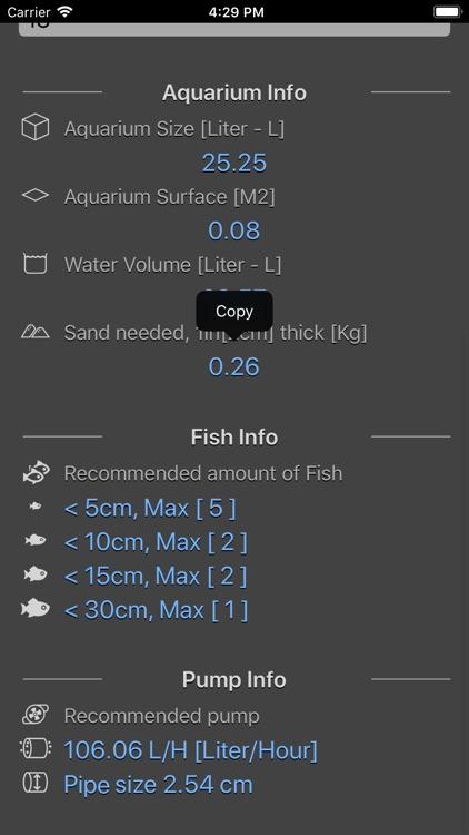Aquarium Calculator Plus screenshot-5