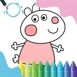 儿童画画游戏:填色与自由绘画