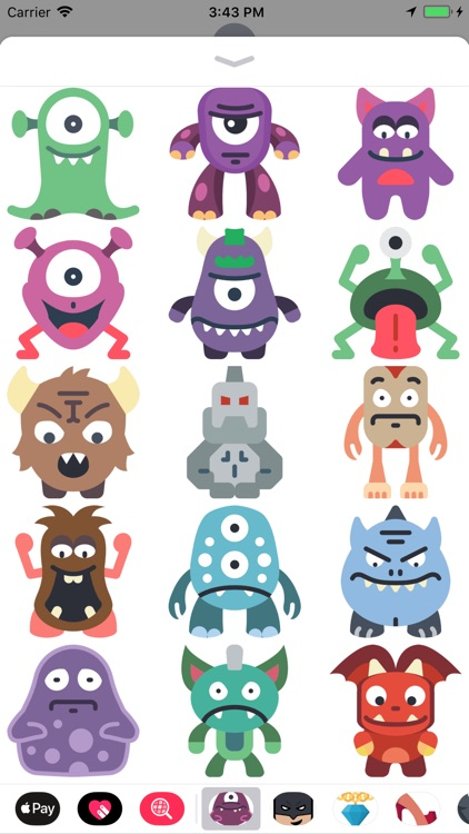 Monsty Cute Monsters Stickers