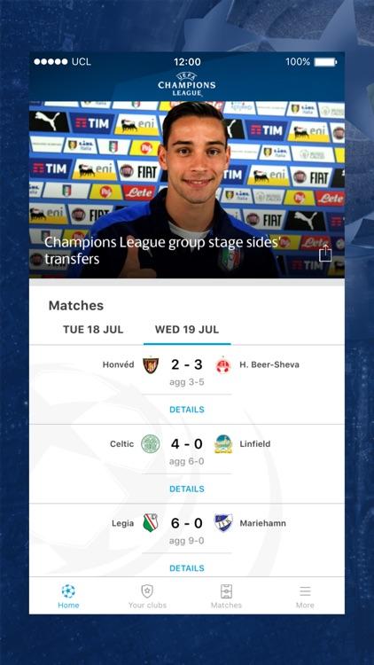 The official UEFA Champions League app screenshot-0
