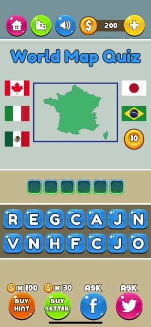 World map quiz on the app store gumiabroncs Choice Image