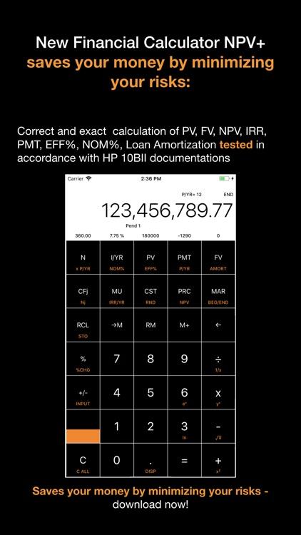 Financial Calculator NPV + screenshot-4