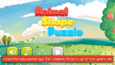 Screenshot for Animal Shape Puzzle in United States App Store