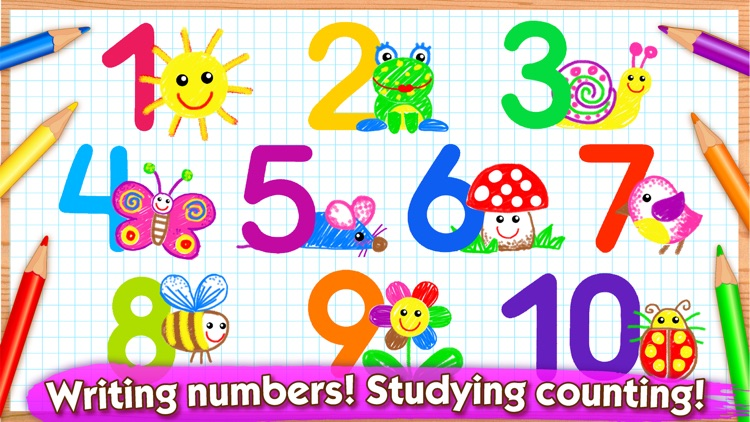 123 Draw Kids to Learn Numbers screenshot-0