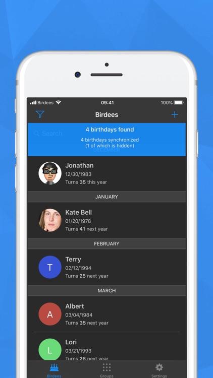 Birdees - Birthday Reminder screenshot-8