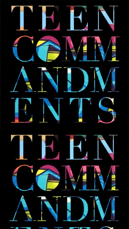 Teen Commandments Sticker Pack