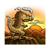 T-Rex a Cute Dinosaur Sticker