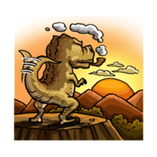 T-Rex a Cute Dinosaur Sticker icon