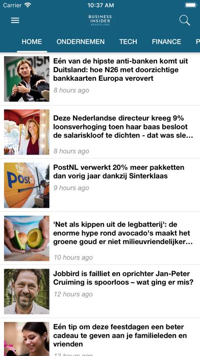 Business Insider NL screenshot one