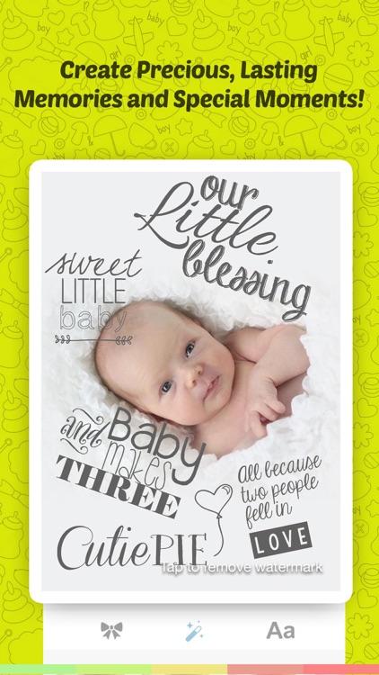 Baby Sticker- Baby Milestones screenshot-3