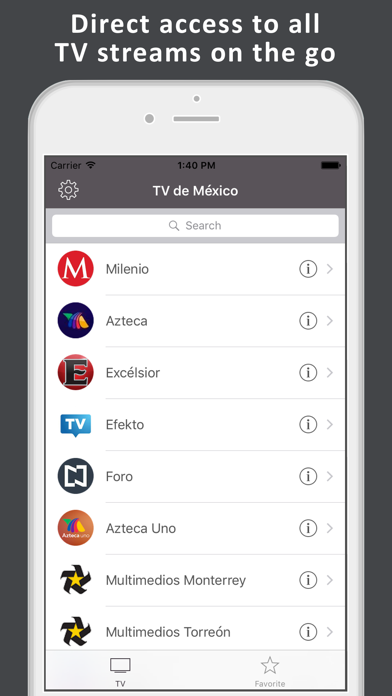 TV de México: TV mexicana LIVE Screenshot on iOS