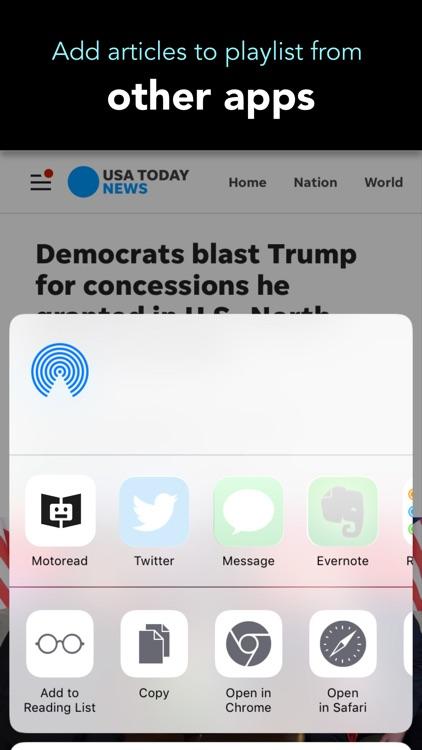 Text to Speech News - Motoread screenshot-4