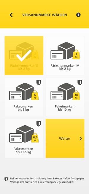 DHL PACKSET Screenshot