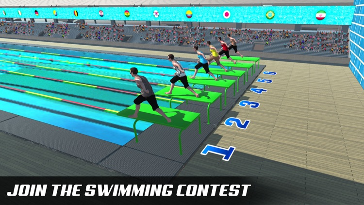 Water Swimming Diving Race screenshot-2