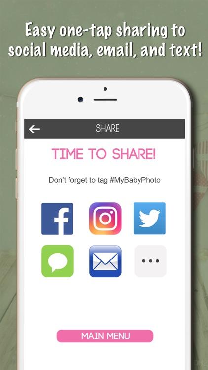 Baby Milestones Sticker Pics screenshot-4