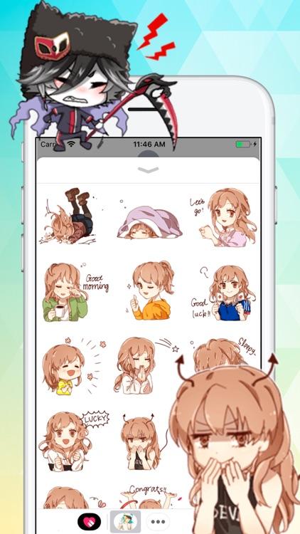 Anime Love Stickers