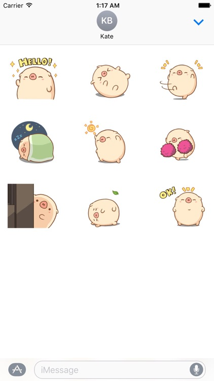 Pig a Dancer Animated Stickers