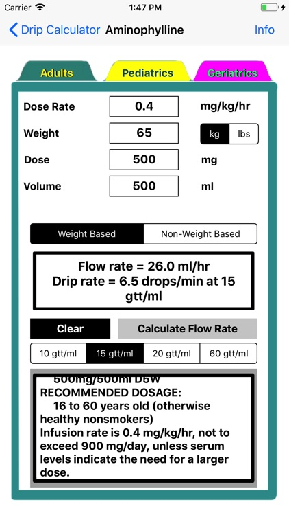 Drip Calculator screenshot-1