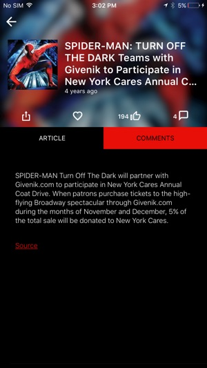 SPIDER-MAN TURN OFF THE DARK on the App Store