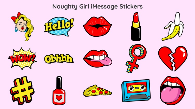 Naughty Girl Expression Emojis screenshot-0