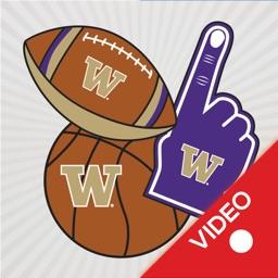 Washington Huskies Animated Selfie Stickers