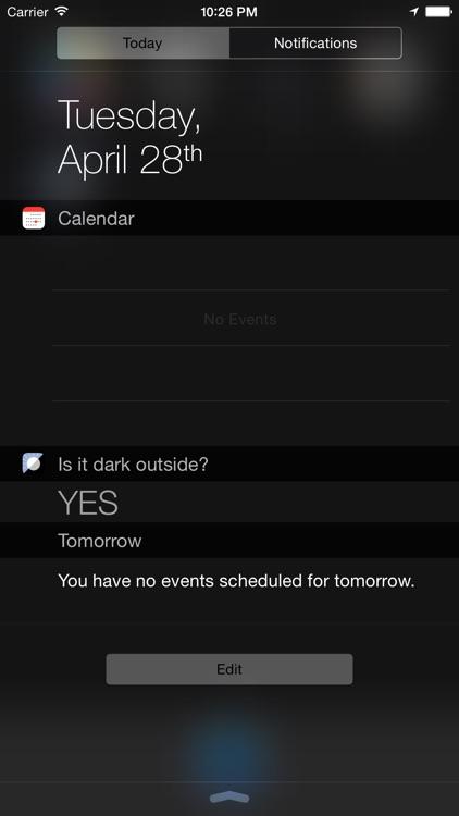 Is it dark outside?