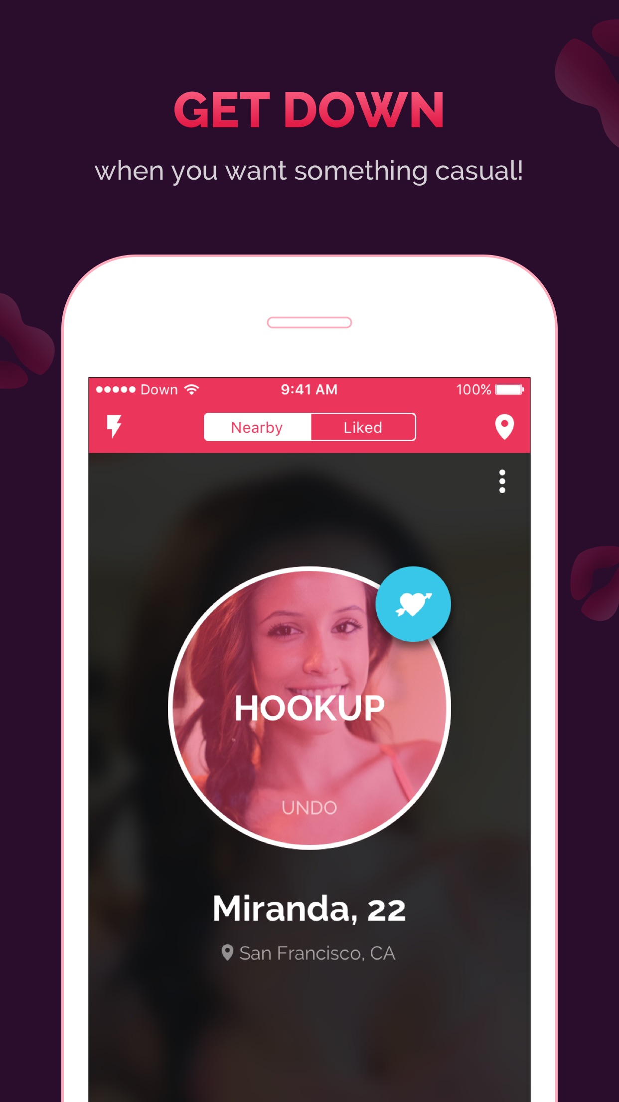 DOWN Dating: Flirt and Hookup Screenshot