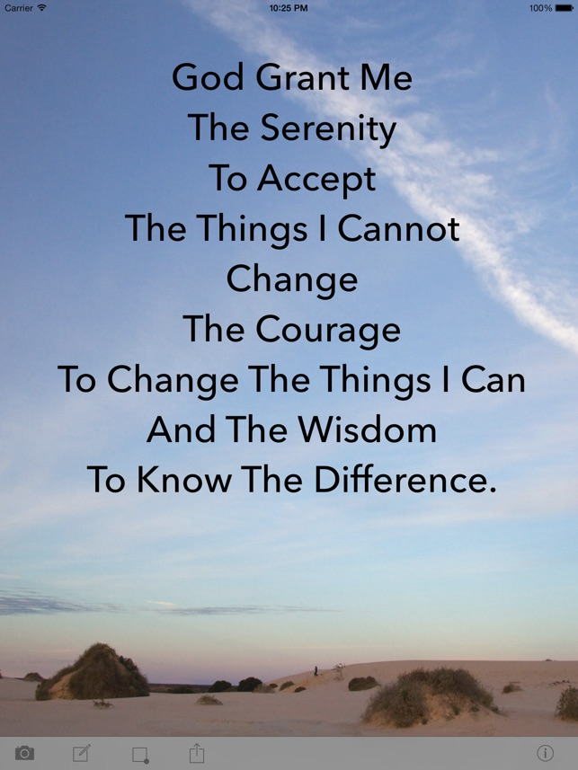 Serenity Prayer On The App Store
