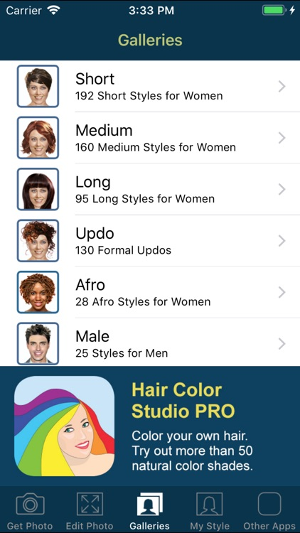 Hairstyle Try On PRO screenshot-7