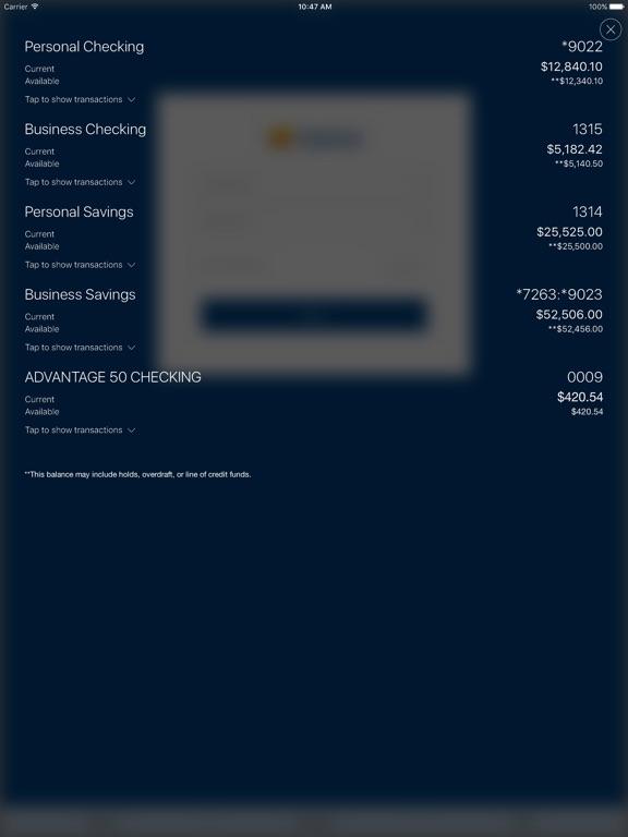 Marine FCU Mobile Access Скриншоты9