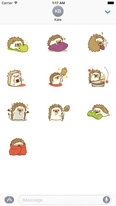 Hedgehog In Autumn Sticker screenshot 3