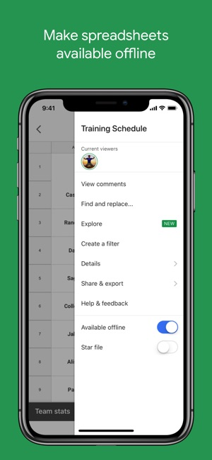 google sheets on the app store
