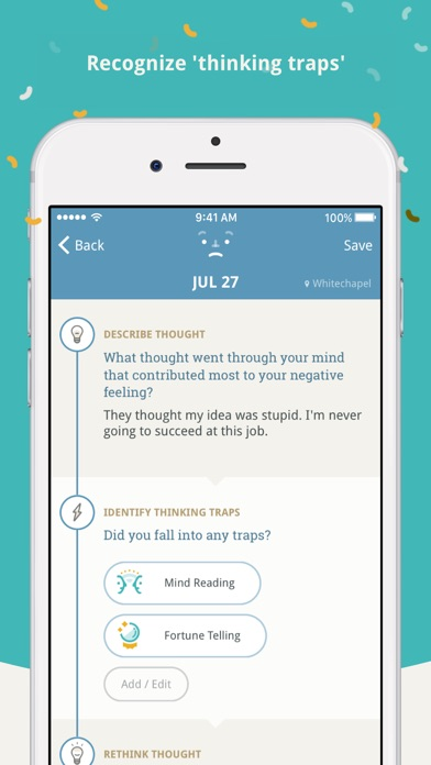 Screenshot of Moodnotes App