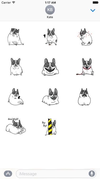 Chubby Frenchie Dog Sticker
