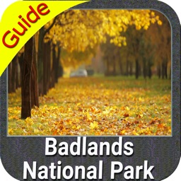 Badlands National Park gps outdoor map with Guide