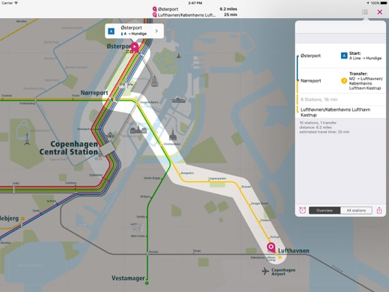 Copenhagen Rail Map Lite
