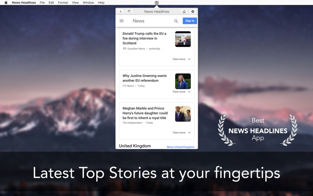 News Headlines -App for Google Screenshot