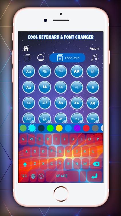 Cool Keyboard & Font Changer screenshot-4