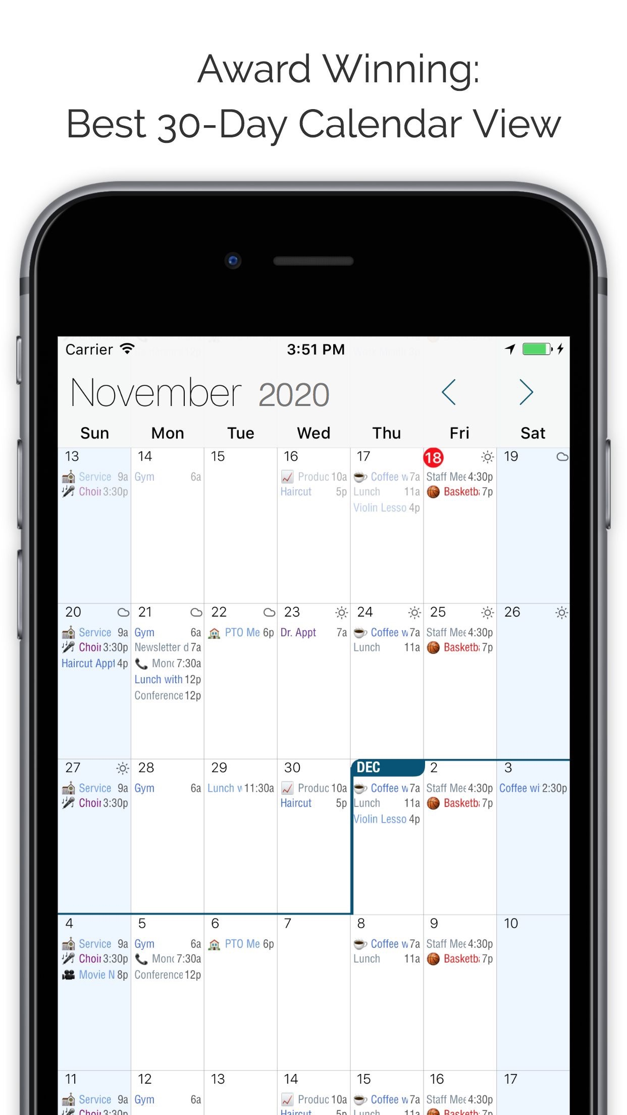 Informant 5 Calendar Screenshot